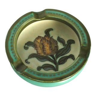 Gouda Tulip Design Pottery Ashtray