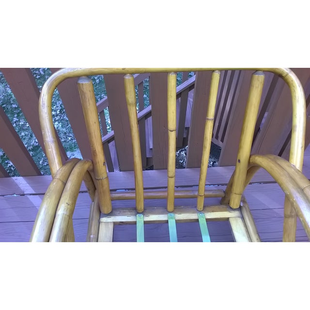 Vintage Bamboo Bentwood Rattan Chairs - A Pair - Image 10 of 10