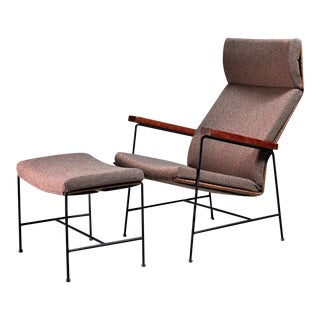 Arden Riddle Lounge Chair with Ottoman