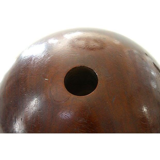 Image of 19th Century Lignum Vitae Bowling Ball