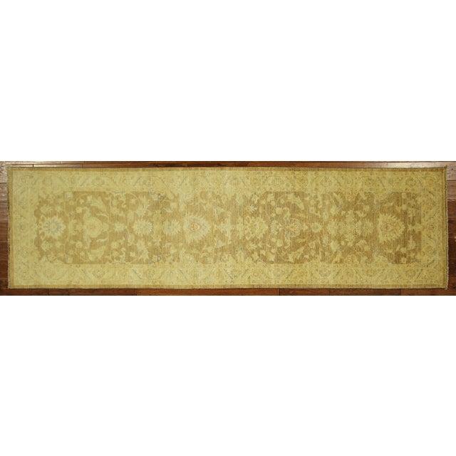 Hand Knotted Wool Mocha Chobi Runner - 3' x 10' - Image 2 of 8