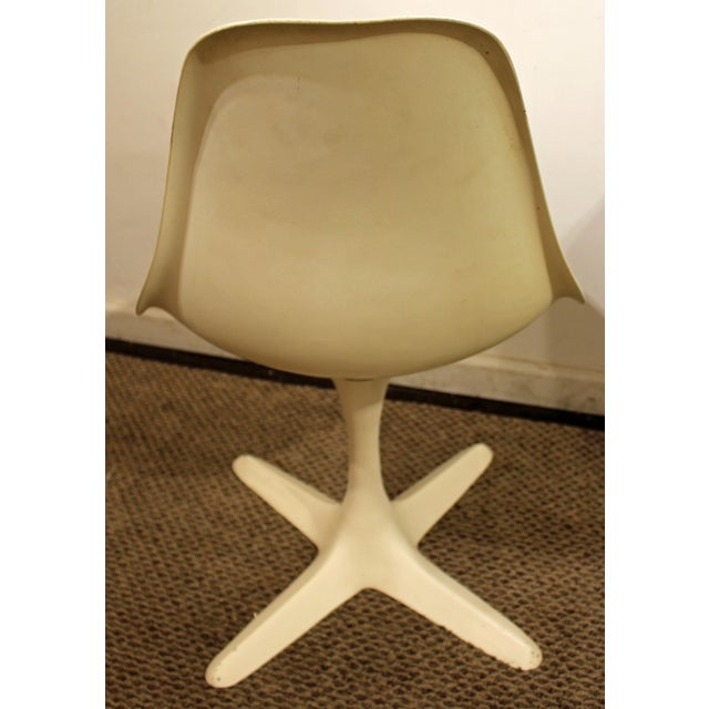 Burke Mid-Century Tulip Style Swivel Side/Dining Chairs - A Pair - Image 4 of 11