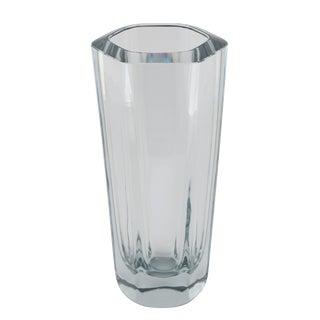 HEXAGONAL STROMBERGSHYTTAN GLASS VASE, CIRCA 1950S