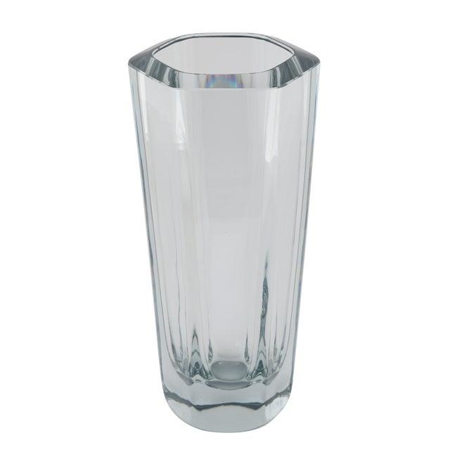 Superb Hexagonal Strombergshyttan Glass Vase Circa 1950s