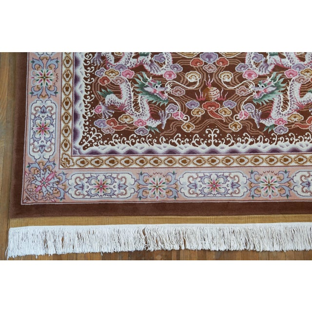"""Hand Knotted Wool Oriental Dragon Rug - 6' x 10'2"""" - Image 4 of 8"""