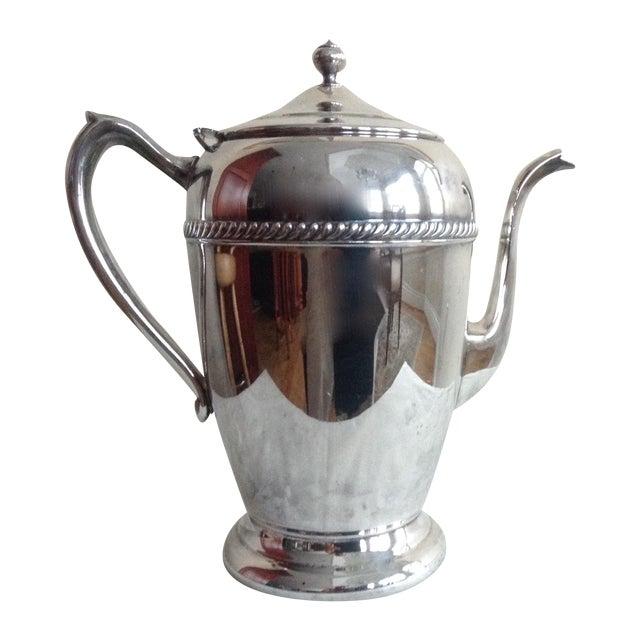 Image of Vintage 1950s Silver-Plate Tea Service Pot