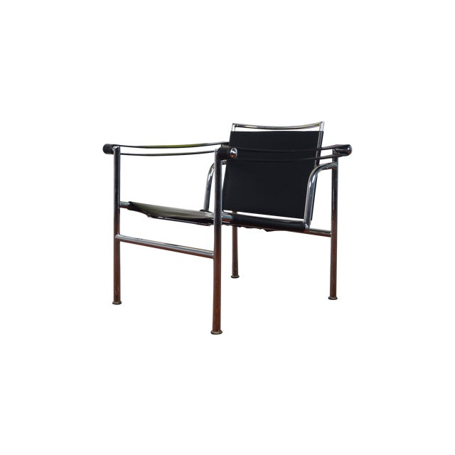 Vintage Leather & Chrome Chair - Image 1 of 7