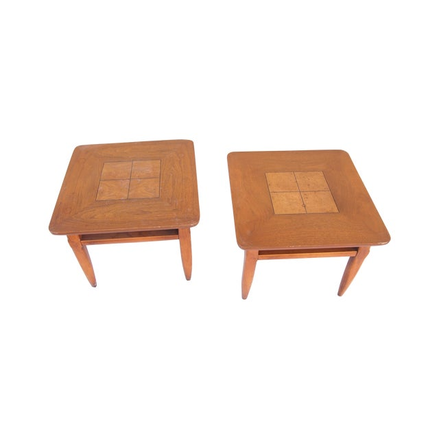 Parquet Lane Side Tables- A Pair - Image 1 of 4