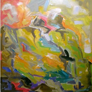 """Abstract Oil Painting by Trixie Pitts 36""""x36"""""""