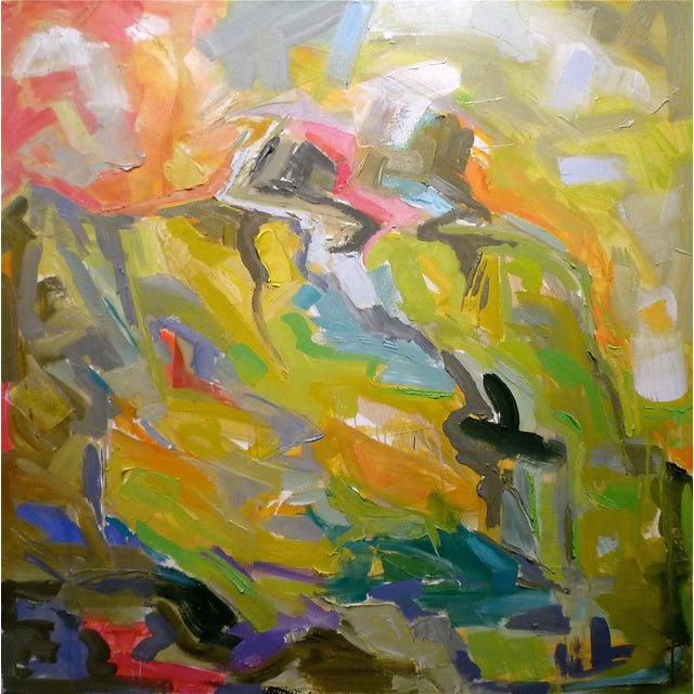 """Image of Abstract Oil Painting by Trixie Pitts 36""""x36"""""""
