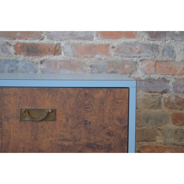 Vintage Laminate Burlwood Chest - Image 3 of 8