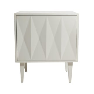 Erinn V. White Diamond Door Side Table