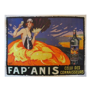 Vintage French Art Deco Fap'Anis Alcohol Poster