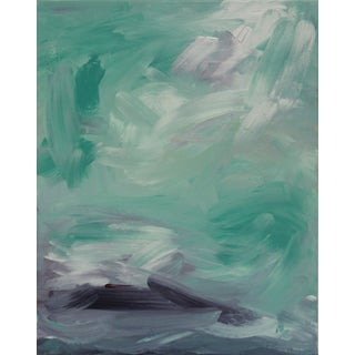 Abstract Turquoise Painting