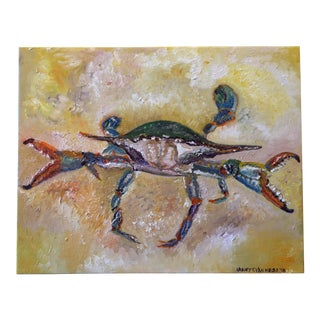 Blue Crab Original Oil Painting