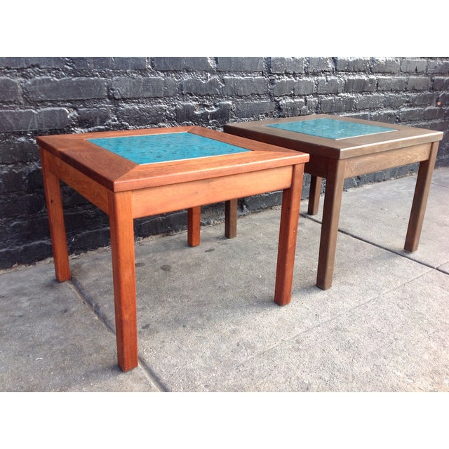 Mid-Century Brown Saltman Side Tables - A Pair - Image 3 of 7