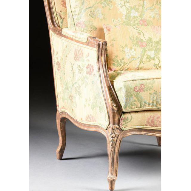 Louis XV Style Bergere & Footstool - Image 7 of 8