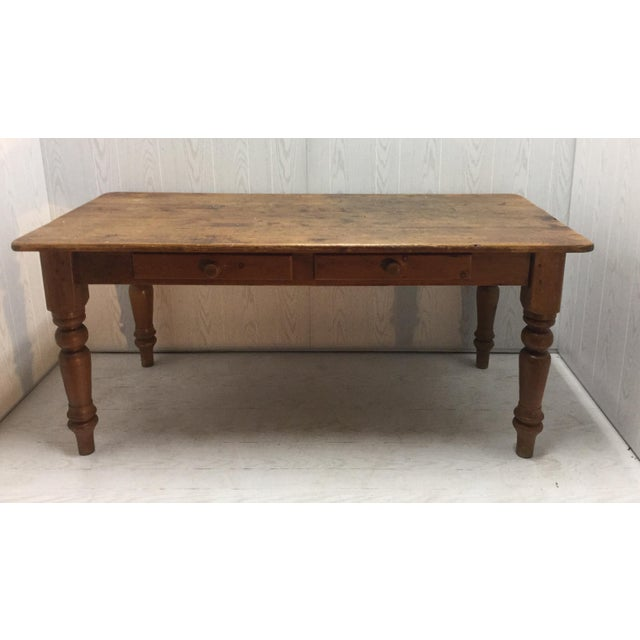 Farm Table With Drawers - Image 2 of 8