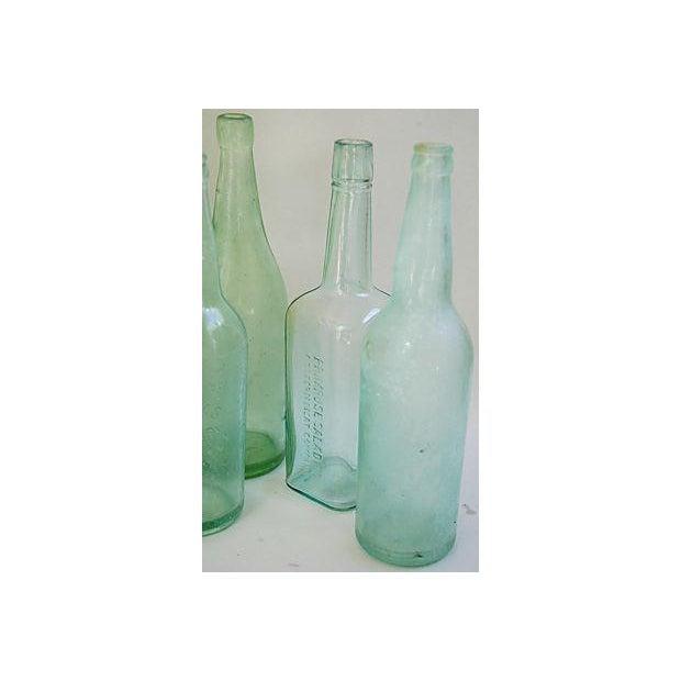 Pale Green-Blue Antique Bottles - Set of 8 - Image 8 of 8