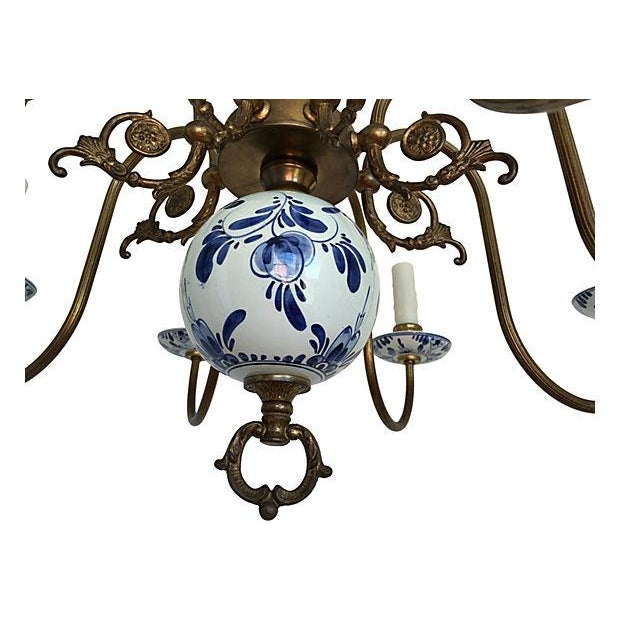 Blue & White Porcelain Chandelier - Image 5 of 8