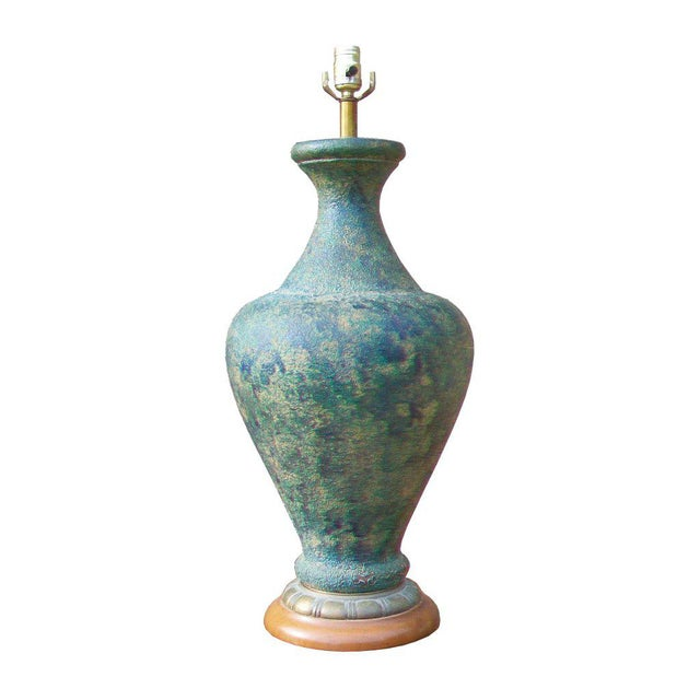 James Mont Style Ceramic Table Lamp - Image 2 of 3