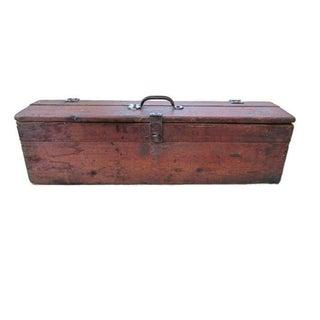 Rustic Industrial Wooden Carpenter's Tool Box