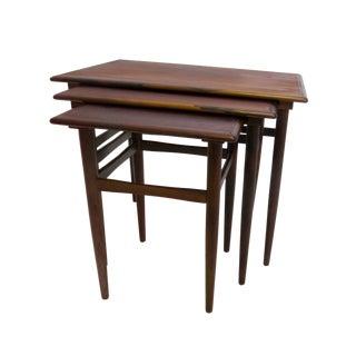 Danish Mid-Century Modern Rosewood Nesting Tables