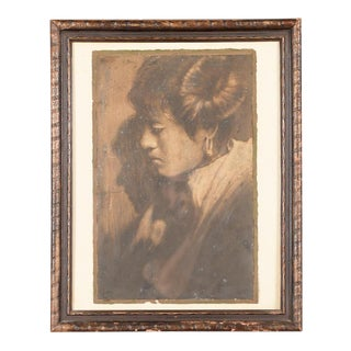 """Native American Woman Portrait"" Original Photograph by Edward Curtis"