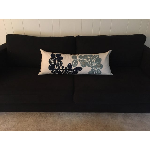 West elm blue white crewel pillow cover chairish West elm pillows