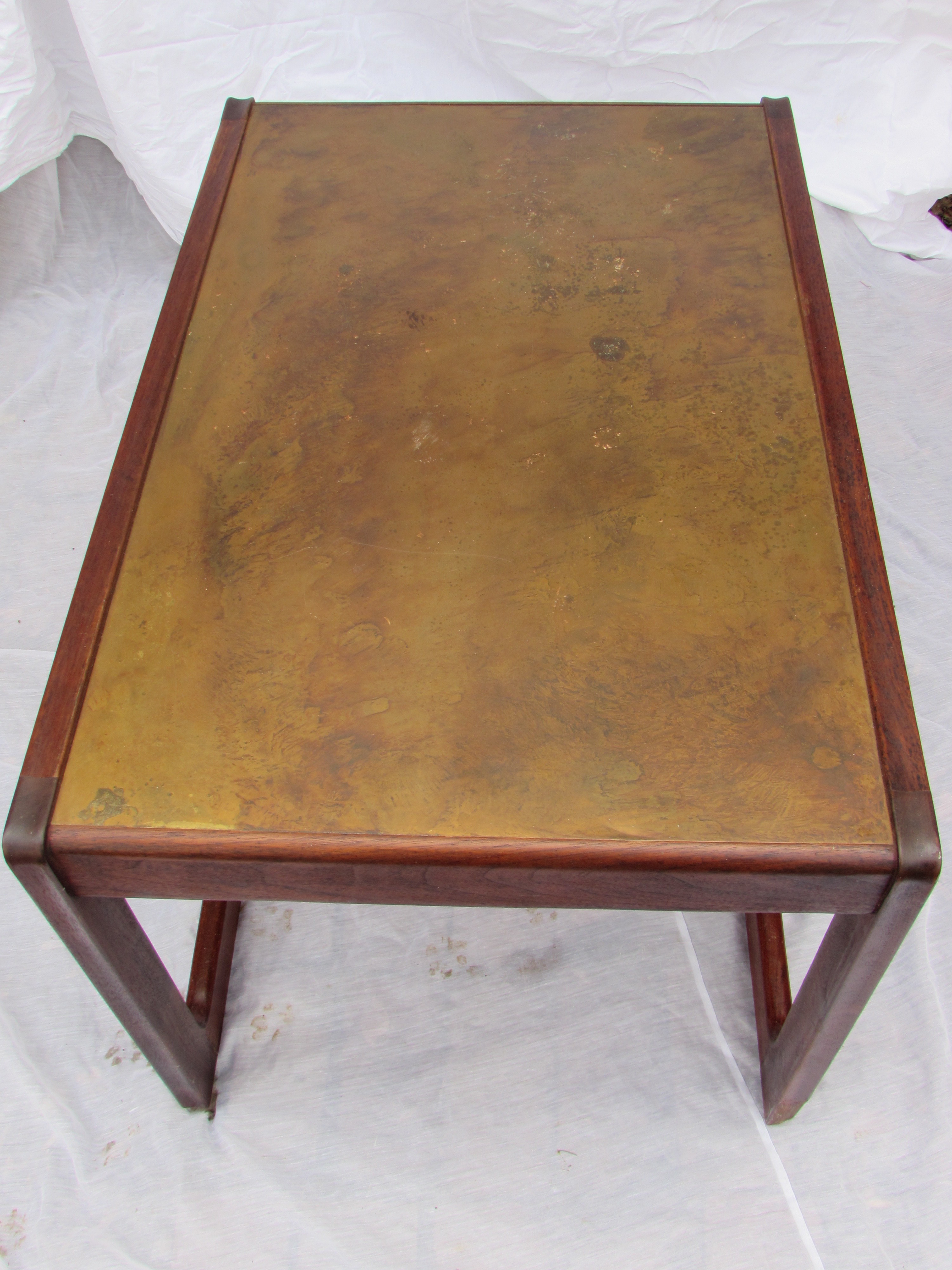 MidCentury RosewoodCopper Top Coffee TableChairish