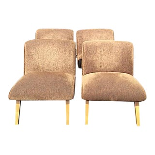 Norman Bel Geddes Style Mid-Century Slipper Chair - Set of 4