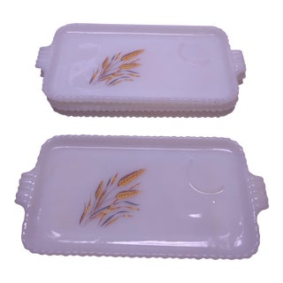 Anchor Hocking Fire King Wheat Trays - Set of 4