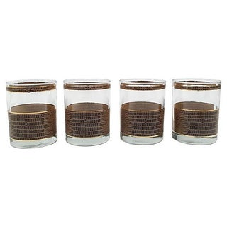 Georges Briard Crocodile Tumblers- Set of 4