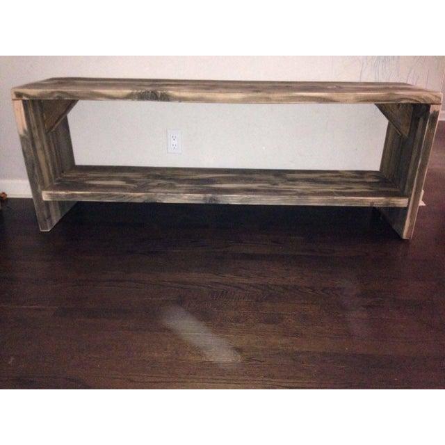 Custom Rustic Wood Bench - Image 5 of 7