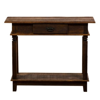 Traditional Console Eco-Friendly Reclaimed Solid Wood Table