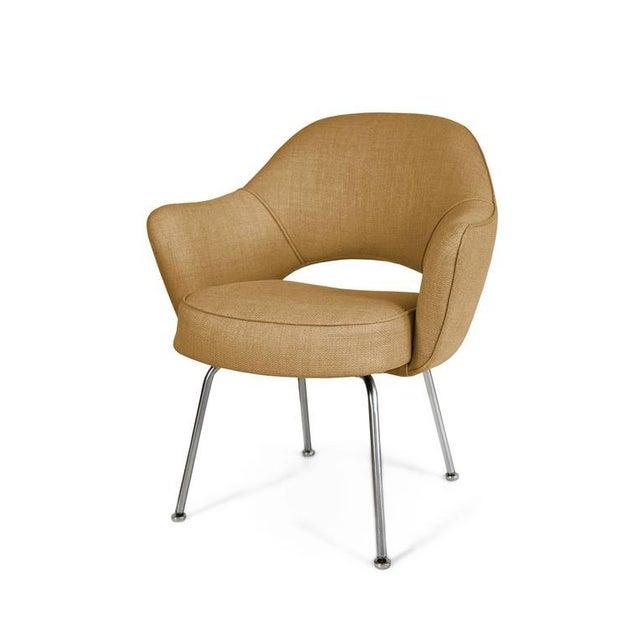 Saarinen Executive Armchairs in Gold Woven-Microfiber, Set of Six - Image 2 of 5