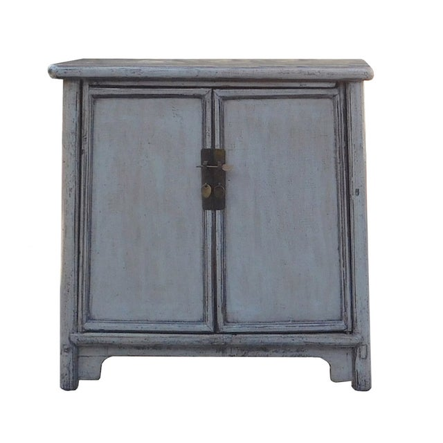 Image of Chinese Rustic Gray Side Cabinet