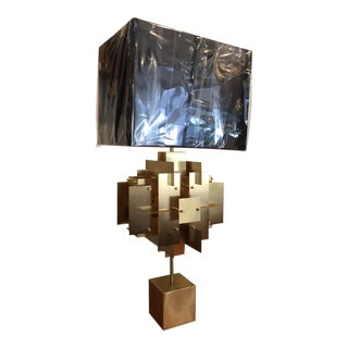 Jonathan Adler Brass Puzzle Table Lamp