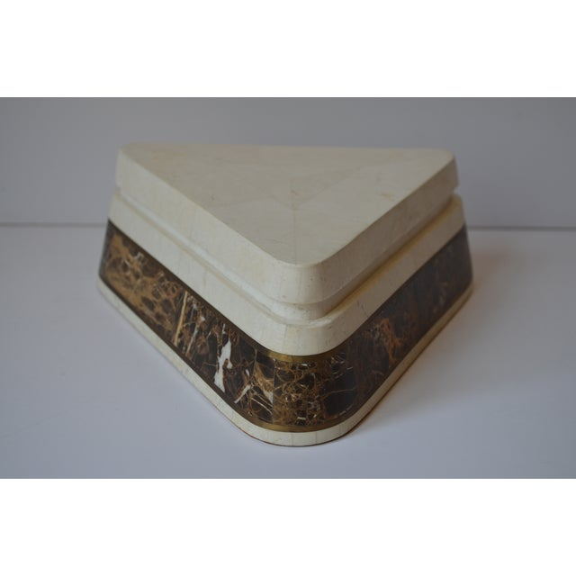 Triangle Tessellated Stone Trinket Box - Image 5 of 11