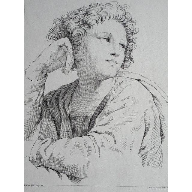 Image of Large Portrait 18th C. Engraving After Raphael