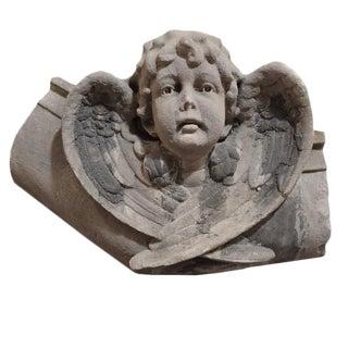 American Carved Limestone Angel
