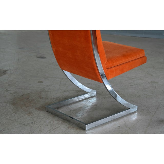 Milo Baughman Eight Chrome 'Z-Dining Chairs' for Design Institute of America - Image 9 of 11