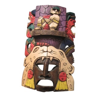 Vintage Tiki Mask Sculpture