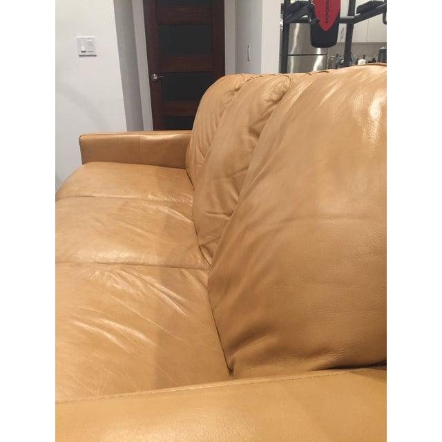 Divani Chateau D Ax Tan Italian Leather Sofa Chairish