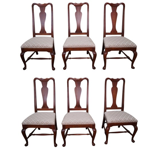 Lexington Queen Anne Dining Chairs - Set of 6 - Image 1 of 10