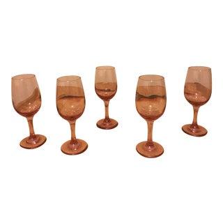 Pink Wine Glasses - Set of 5