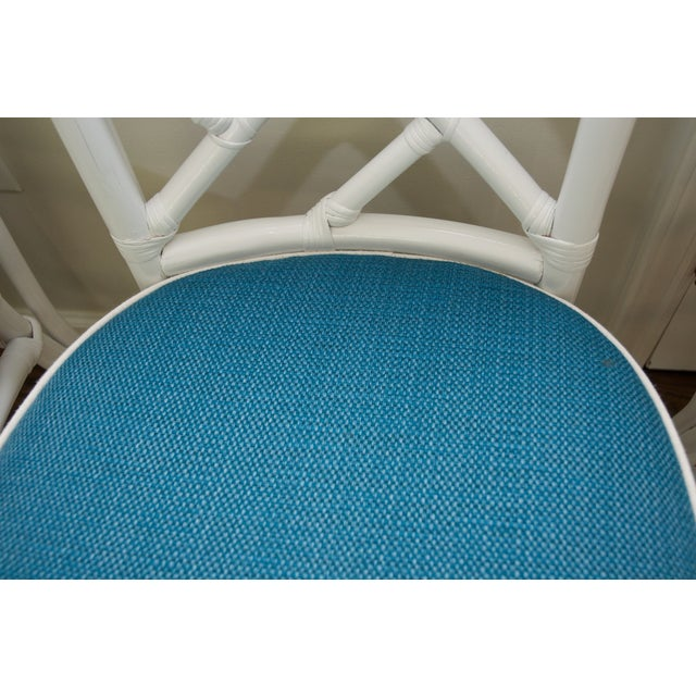 Refinished Ficks Reed Rattan Chairs - Set of 4 - Image 8 of 8