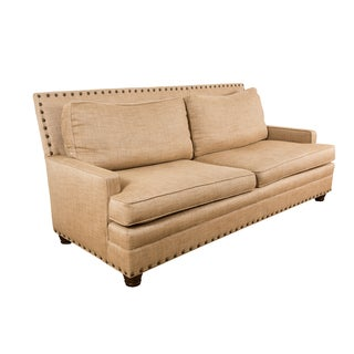 Custom Kravet 7' Sofa With Nailheads