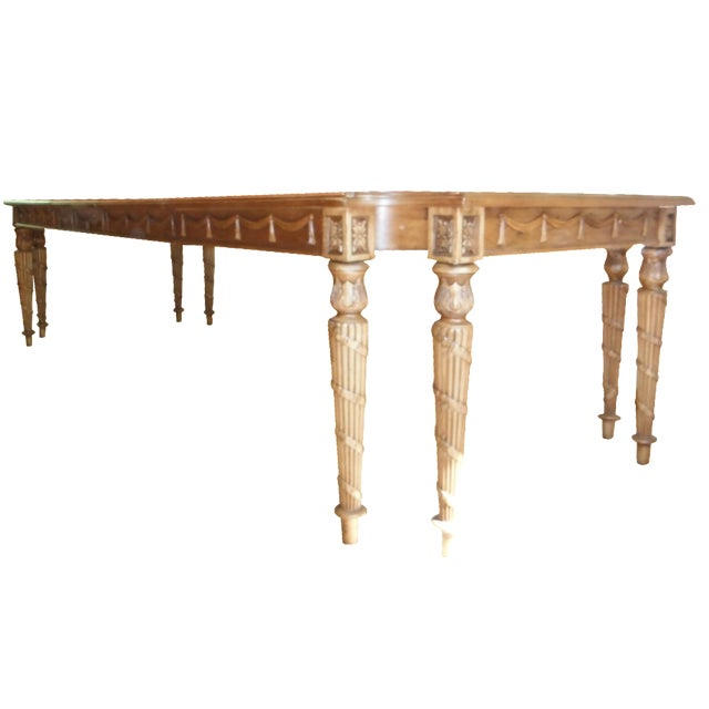 Century furniture traditional carved dining table chairish for Furniture gig harbor
