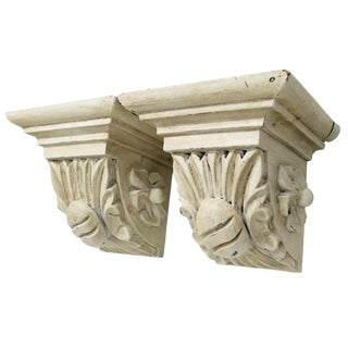 Carved Cream Corbels - a Pair